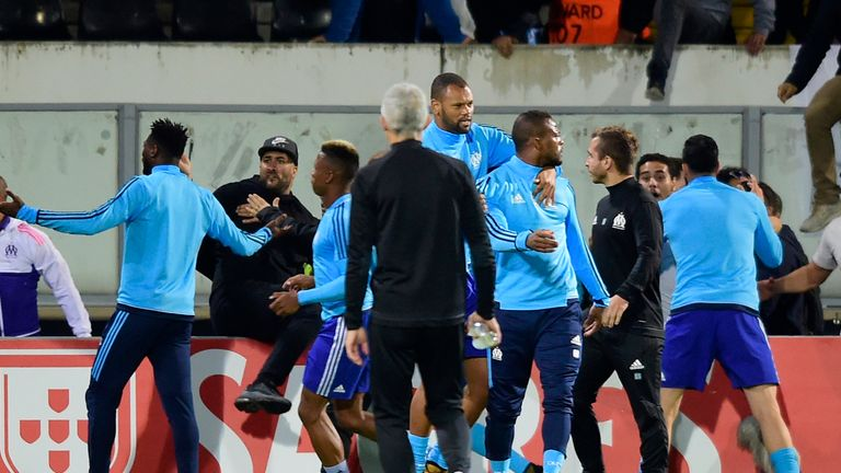 Evra was banned from European club competition after clashing with a fan