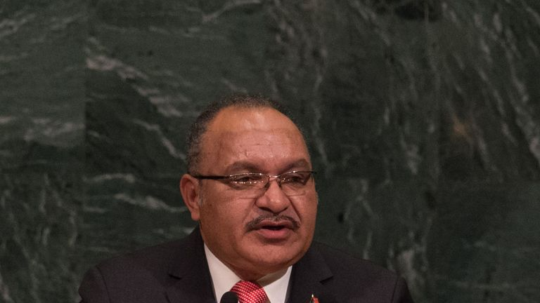 PNG Prime Minister Peter O'Neill could be in attendance when the Kumuls face England on Sunday