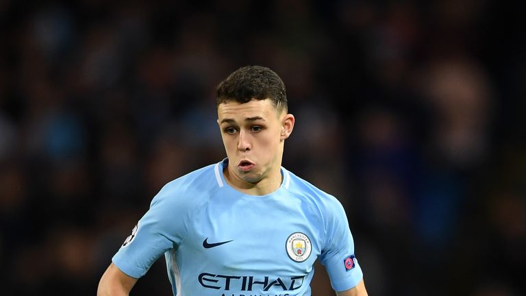 Phil Foden made his first Manchester City start on Wednesday evening
