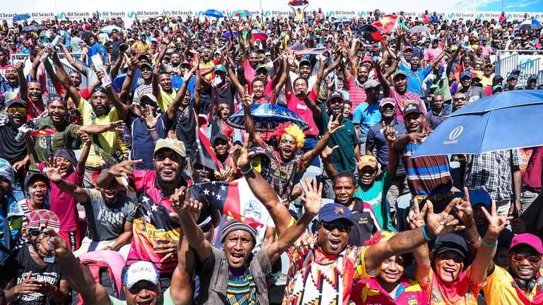 A fanatical sellout crowd of 14,800 sold out the National Stadium in Port Moresby as PNG defeated Wales 50-6