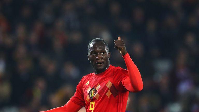 Romelu Lukaku broke the all-time Belgium goalscoring record on Tuesday