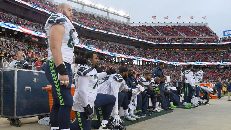 Many players across the league, including the Seattle Seahawks, followed Kaepernick's example