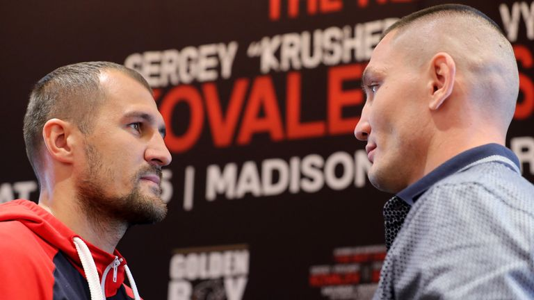 Kovalev and Shabranskyy fight at the famous Madison Square Garden