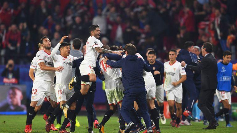 Sevilla scored a late equaliser