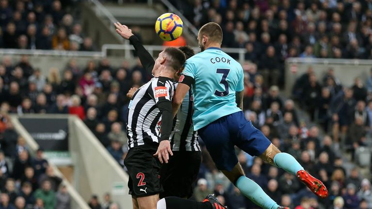 Steve Cook's stoppage-time header secured a dramatic win for Bournemouth at Newcastle