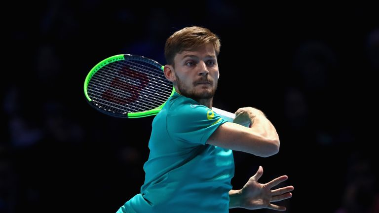 David Goffin cruised through to the last 16 in the Netherlands