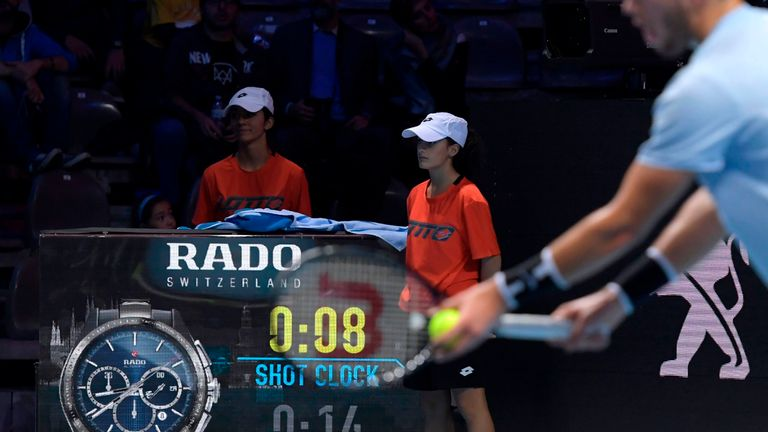 The Next Gen ATP Finals featured the shot clock