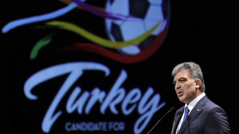 Former Turkish president Abdullah Gul helped lead the nation's bid for Euro 2016