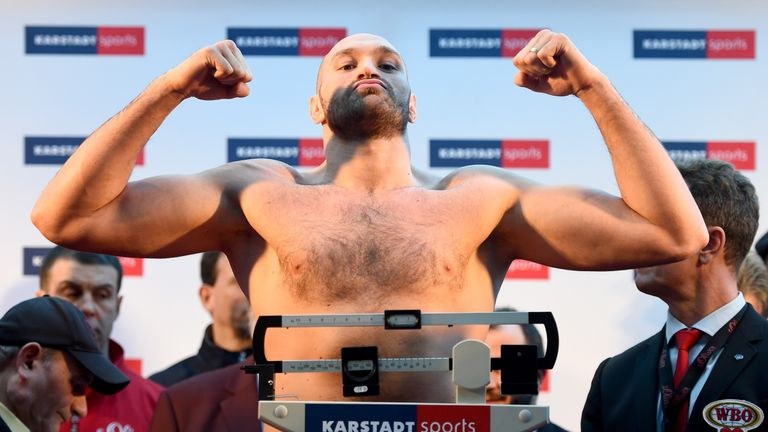Fury weighed-in at 17st 8lbs to fight Klitschko