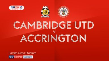 Cambridge 0-0 Accrington