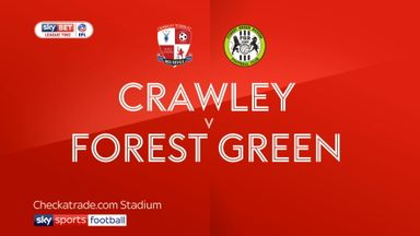 Crawley 1-1 Forest Green