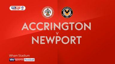 Accrington 1-1 Newport