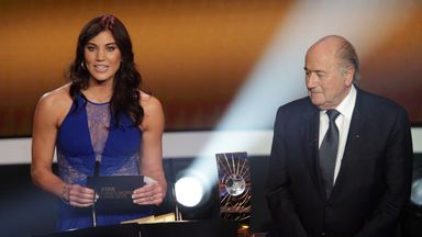 Hope Solo claims she was 'grabbed' by Sepp Blatter while presenting an award at the Ballon d'Or ceremony in 2013