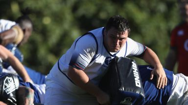 Jamie George during England practice