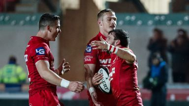 Scarlets overcame Benetton at Parc y Scarlets in a nervy display