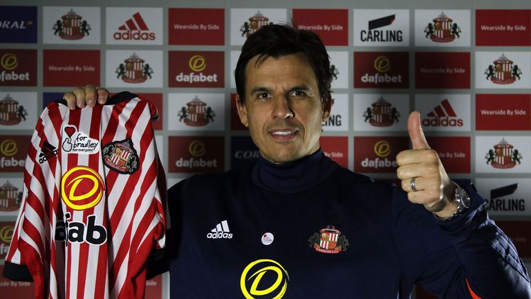 Sunderland have confirmed the appointment of Chris Coleman as manager on a two-and-a-half-year deal - Credit Twitter/@SunderlandAFC