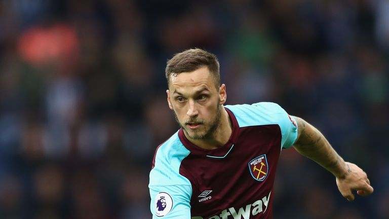 WEST BROMWICH, ENGLAND - SEPTEMBER 16:  Marko Arnautovic of West Ham United during the Premier League match between West Bromwich Albion and West Ham Unite