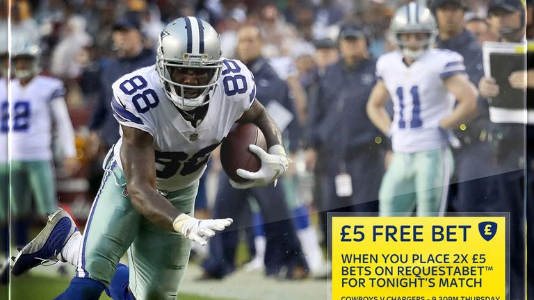 Sky Bet's NFL RequestABet free-bet offer for November 23