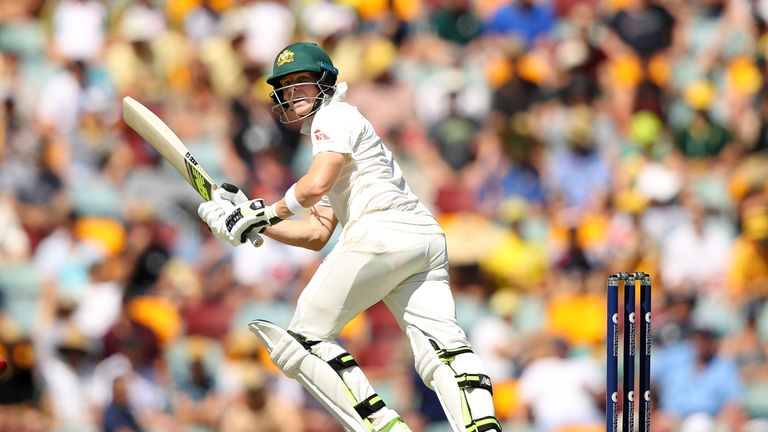 BRISBANE, AUSTRALIA - NOVEMBER 24: Steve Smith of Australia bats during day two of the First Test Match of the 2017/18 Ashes Series between Australia and E
