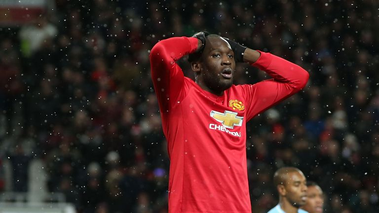 Romelu Lukaku had a Manchester derby to forget at Old Trafford