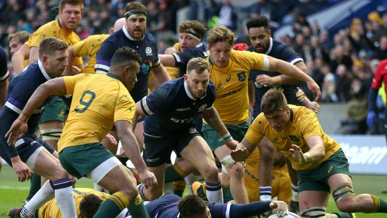 Price went over for a try in Scotland's 53-24 demolition of Australia