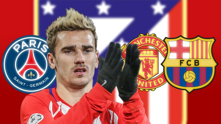 Despite having signed a new deal with Atletico, Griezmann continues to be linked with some of Europe's big guns
