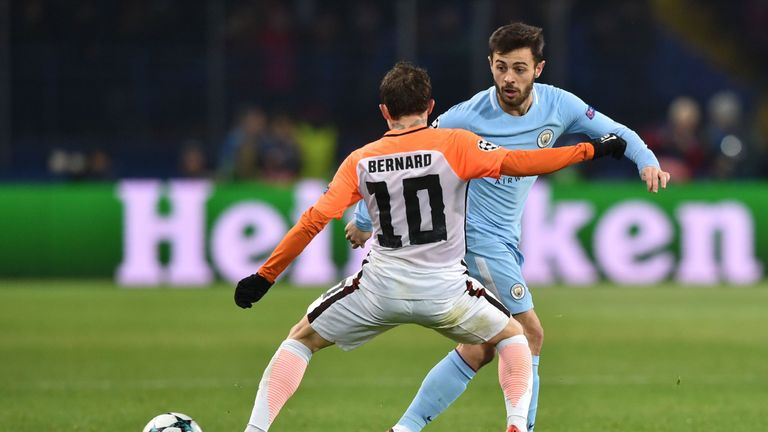 Bernardo Silva started in one of seven changes for City