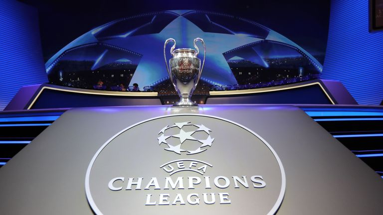 UEFA Champions League Quarter Final Draw On 16th March 2018  Skysports-champions-league-champions-league-trophy-uefa-champions-league_4179916