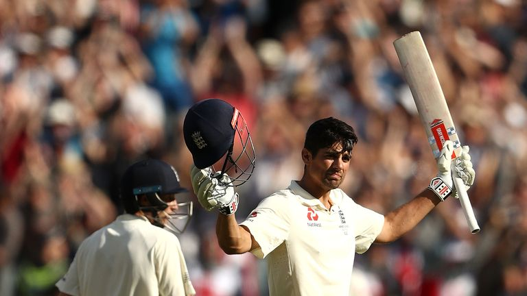 Cook overcame his struggles to hit a double ton in Melbourne during the Ashes