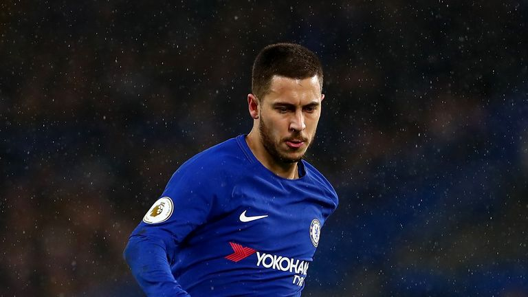 Eden Hazard scored twice for Chelsea on Monday