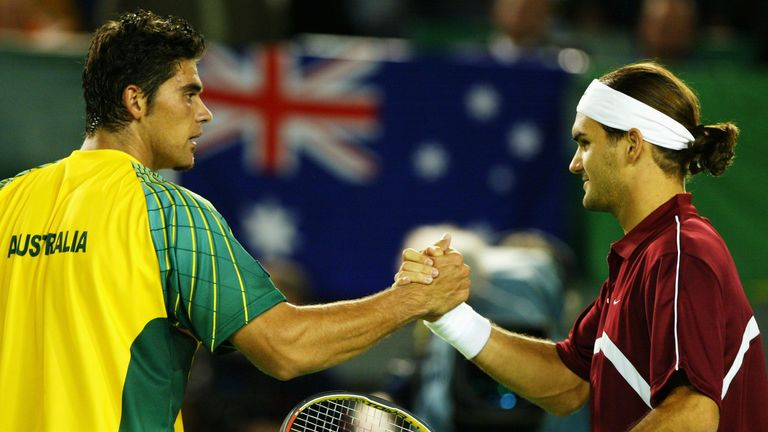 Mark Philippoussis won one of five meetings against Roger Federer