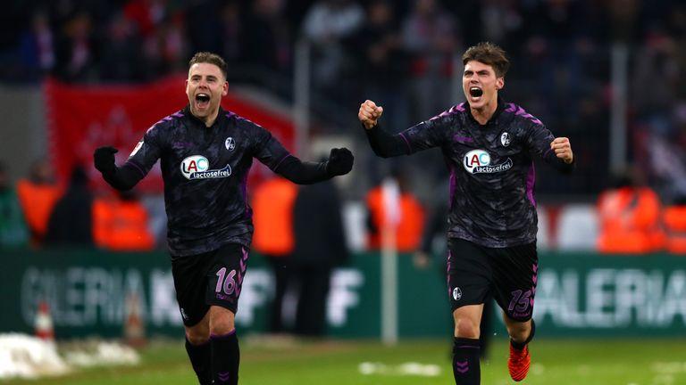 Freiburg celebrate their incredible comeback success