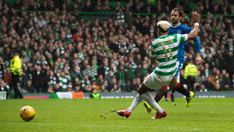 Scott Sinclair misses from close range in the first half