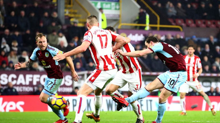 Barnes lashes home the Clarets' winner