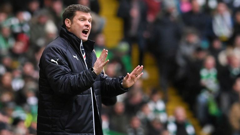 Rangers manager Graeme Murty during the Old Firm derby at Celtic Park