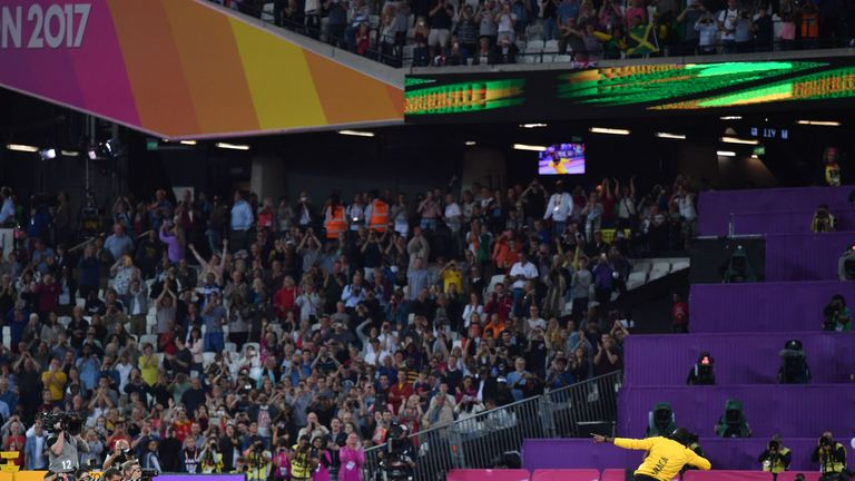 Usain Bolt's farewell at the World Athletics Championships was one of a number of full houses at the Olympic Stadium