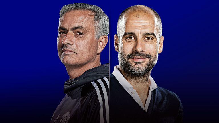 How do you beat Premier League leaders Manchester City? Skysports-manchester-united-manchester-city-jose-mourinho-pep-guardiola-premier-league_4175621