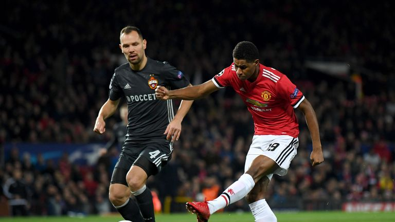 Marcus Rashford was a constant threat