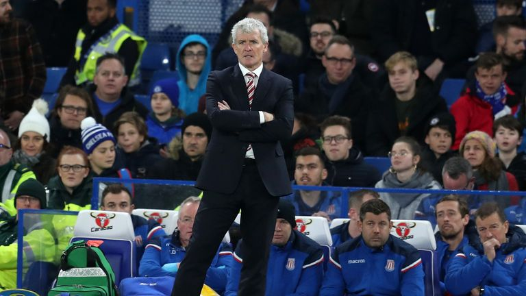 Mark Hughes rested key players during Stoke's 5-0 defeat at Chelsea