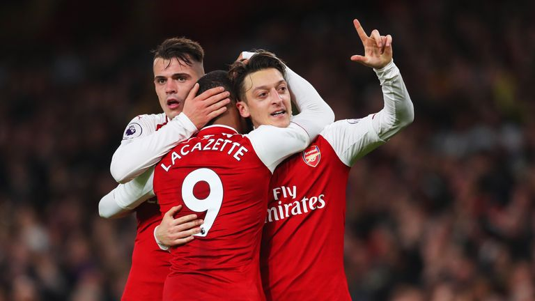 Mesut Ozil has made 50 assists in 141 appearances in the Premier League