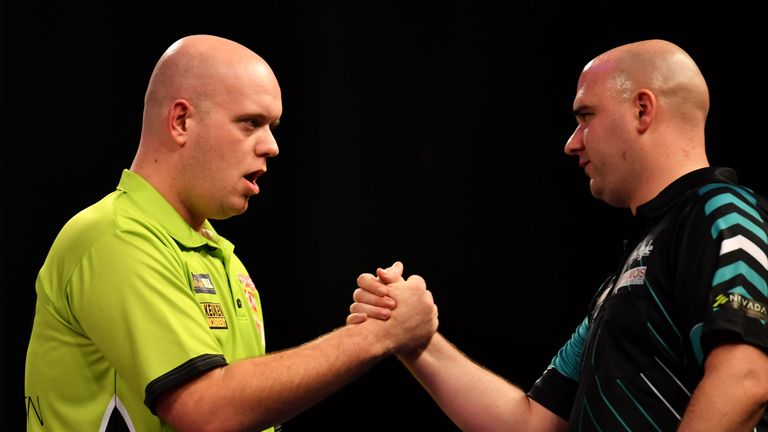 Michael van Gerwen has been a regular foe for Cross in the last year, with the latter's profile raised each and every time
