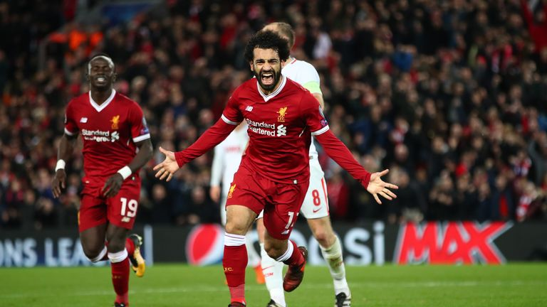 Mohamed Salah has scored 17 goals in 19 Premier League starts for Liverpool