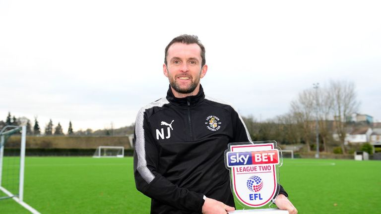 Nathan Jones was named Sky Bet League Two Manager of the Month for November
