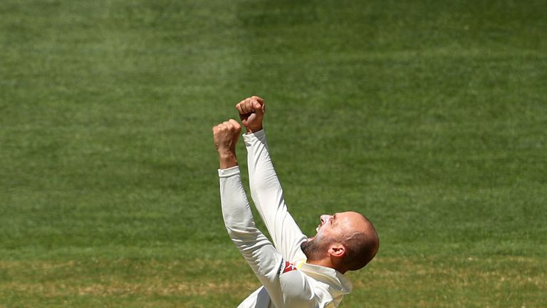 Nathan Lyon has taken a leading 57 Test wickets in 2017