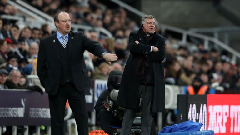 Sam Allardyce renewed his battle with Rafa Benitez on the touchline