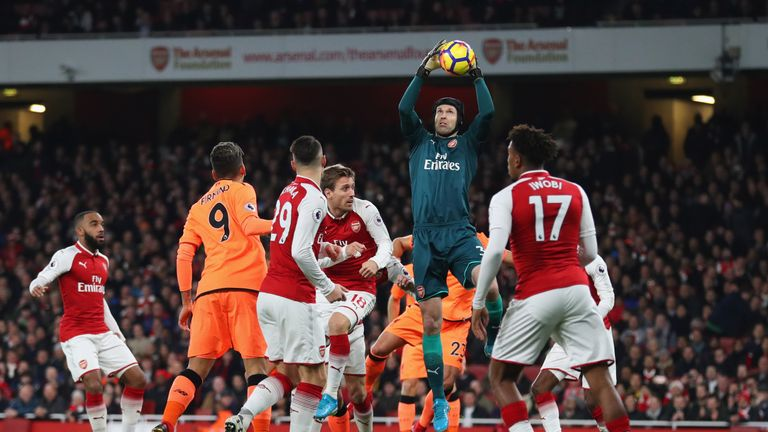 Cech has kept nine clean sheets in 24 Premier League games this campaign