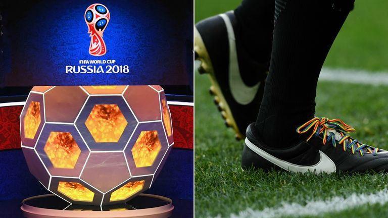 The Rainbow Laces campaign was given visibility by the FA in Moscow
