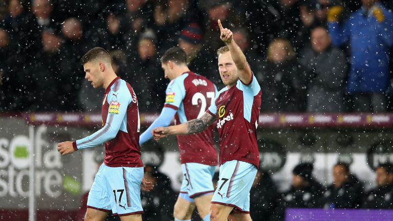Burnley can move level on points with fourth-placed Liverpool if they beat Spurs at Turf Moor