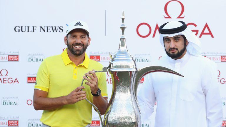 Sergio Garcia finished three strokes clear of Henrik Stenson in Dubai