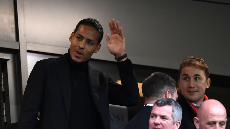 Virgil van Dijk was at Anfield on Saturday to see his new team beat Leicester